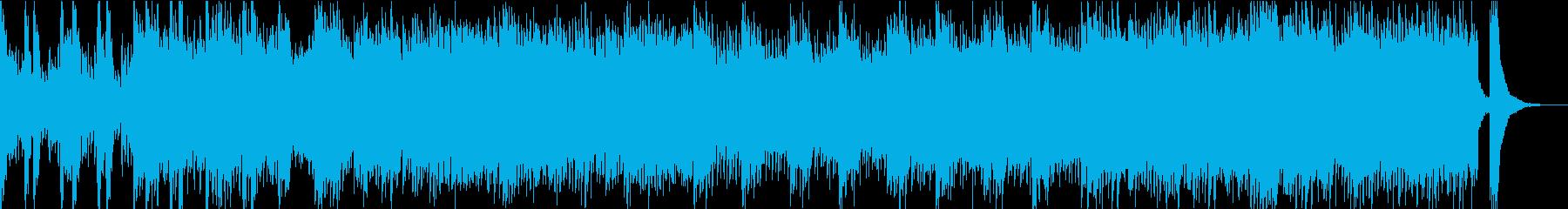疾走感のあるアップテンポの和風テクノの再生済みの波形