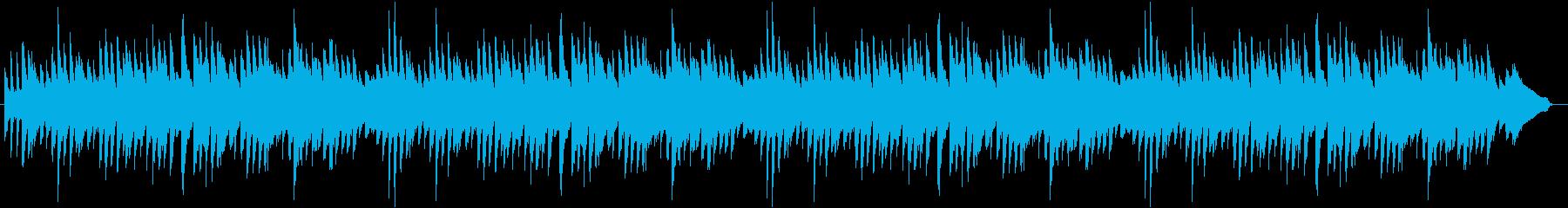 静かでたわやかなハートフルピアノBGMの再生済みの波形