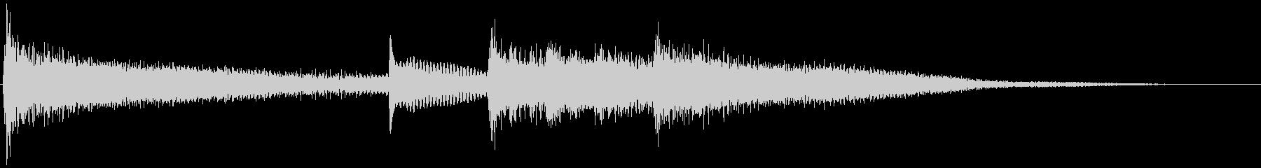 【生演奏】ブリリアントなピアノジングルの未再生の波形