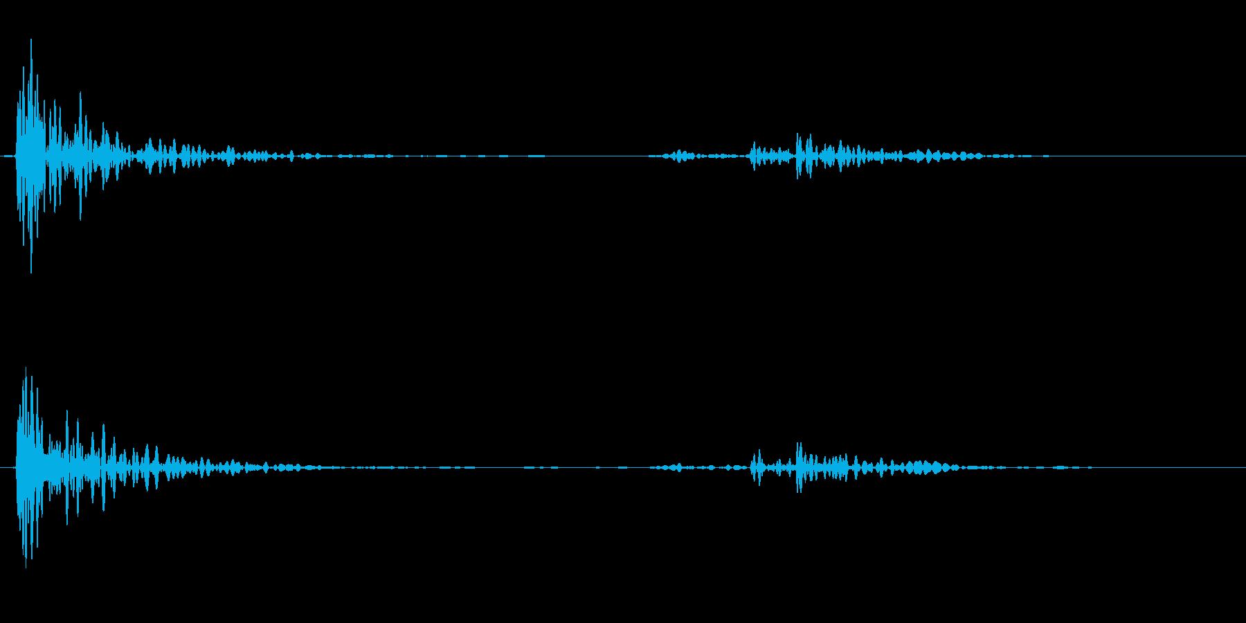 【生録音】テーブルにマグカップを置く音の再生済みの波形