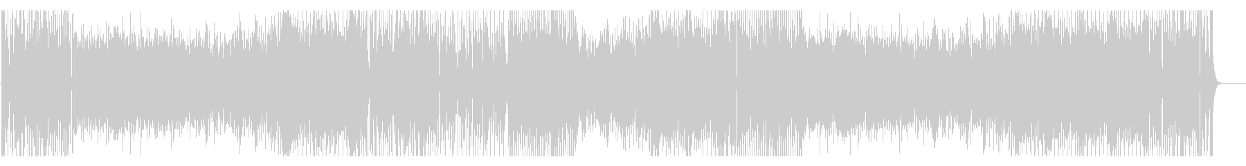 パズルゲームなイメージのテクノポップの未再生の波形