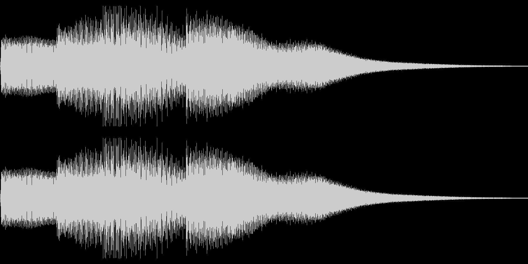 ピロリロ(ボタン音・決定音)上昇メロの未再生の波形