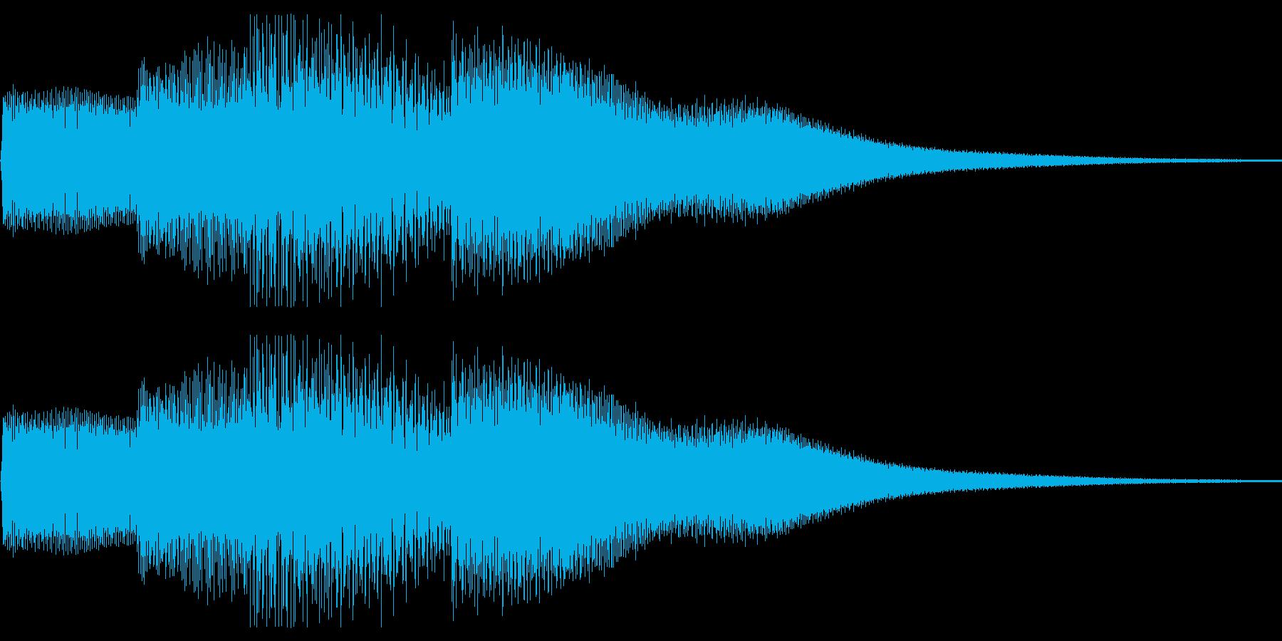 ピロリロ(ボタン音・決定音)上昇メロの再生済みの波形