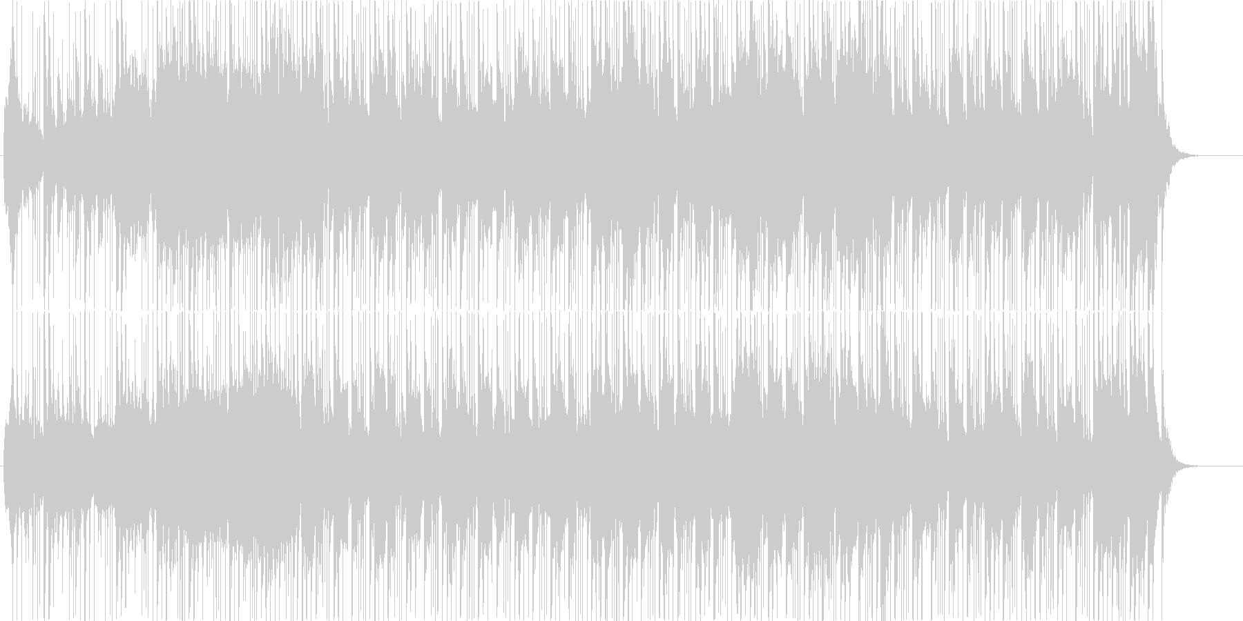 和楽器+ポップスアレンジで前向きな和風曲の未再生の波形