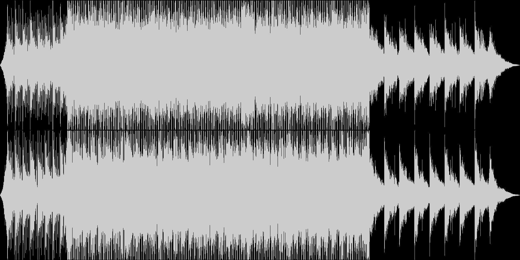 透明感のあるコーポレート系BGMの未再生の波形