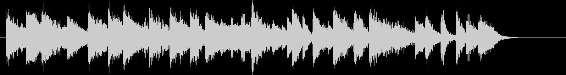 童謡・赤とんぼモチーフのピアノジングルDの未再生の波形