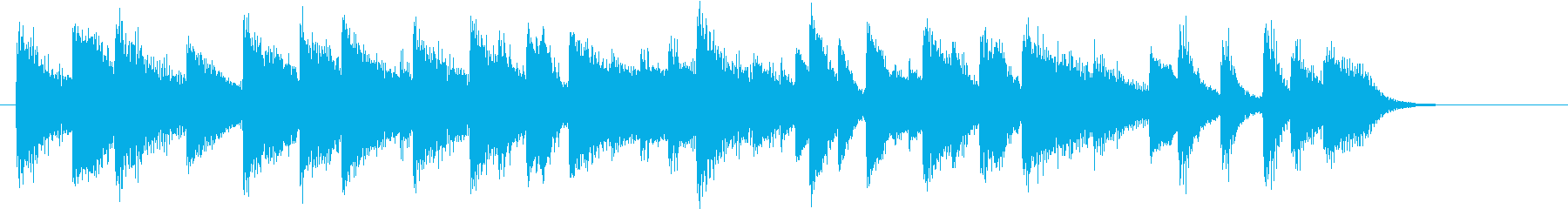 童謡・赤とんぼモチーフのピアノジングルDの再生済みの波形