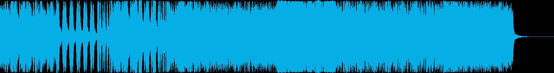 重厚な戦闘曲の再生済みの波形