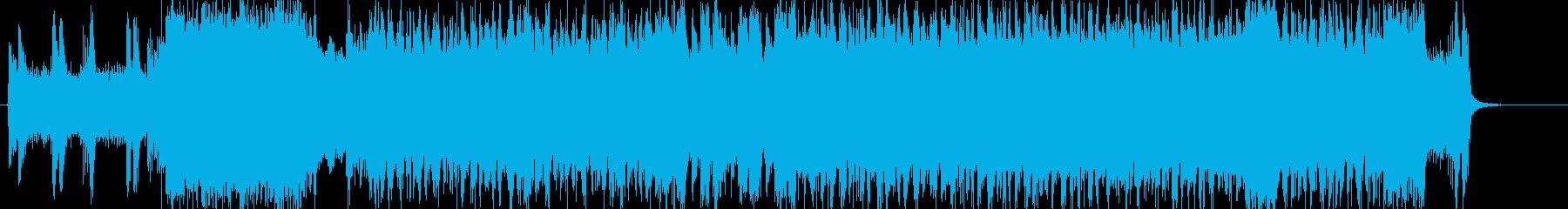 死闘を繰り広げる雰囲気のヘヴィーサウンドの再生済みの波形