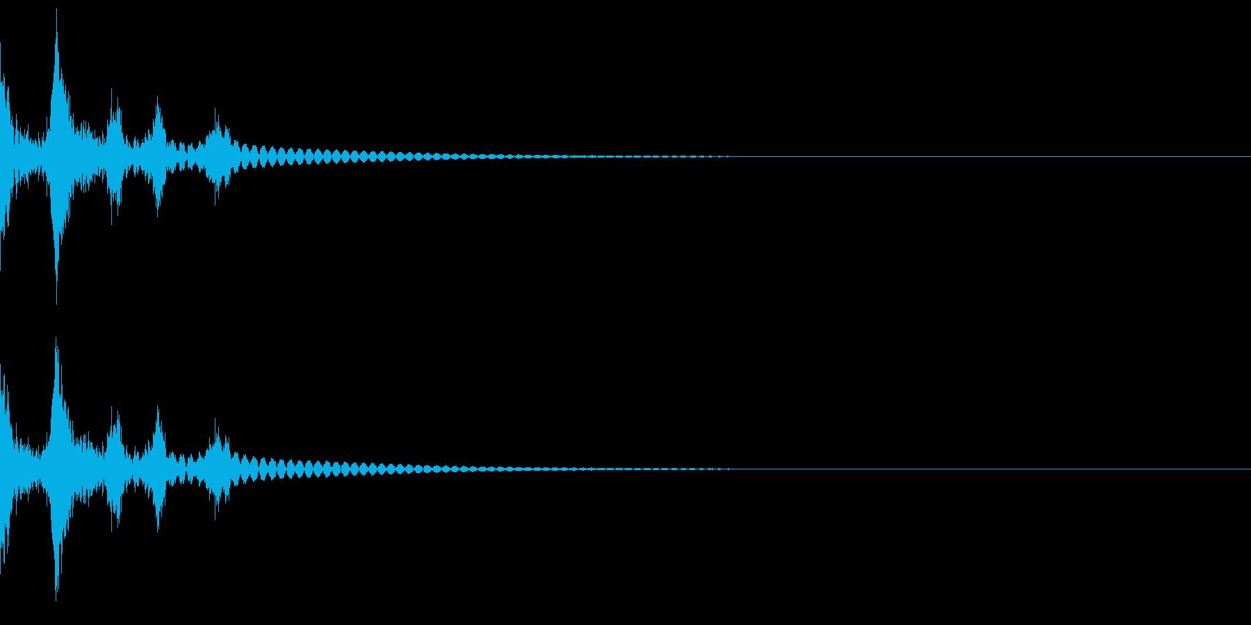 デスクトップのゴミ箱に捨てる音(ガサッ)の再生済みの波形