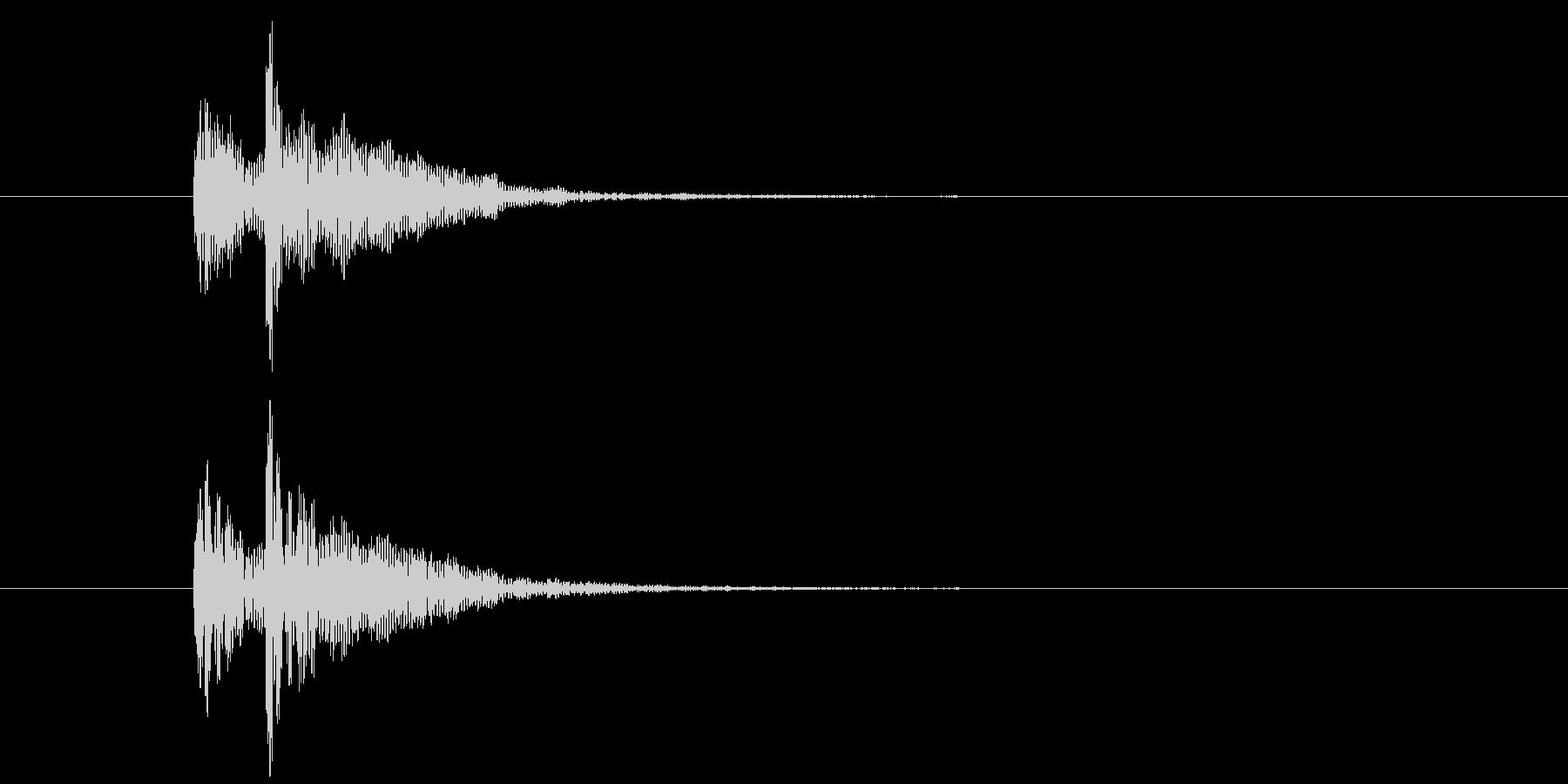 ドドン(中太鼓の少し低い音)の未再生の波形