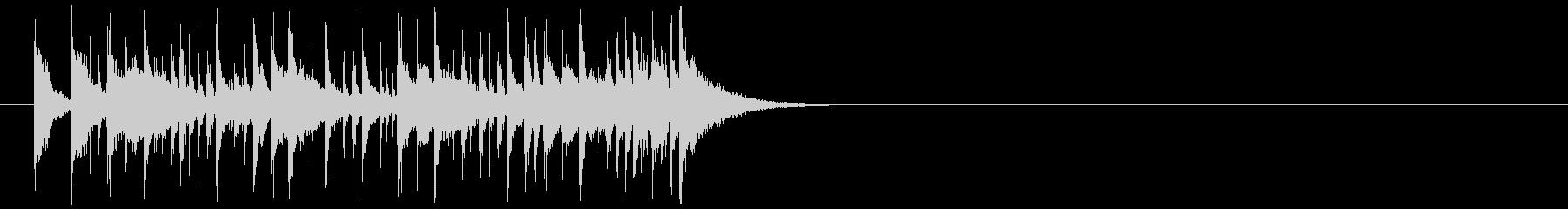 わくわくするシンセのラテン系ジングルの未再生の波形