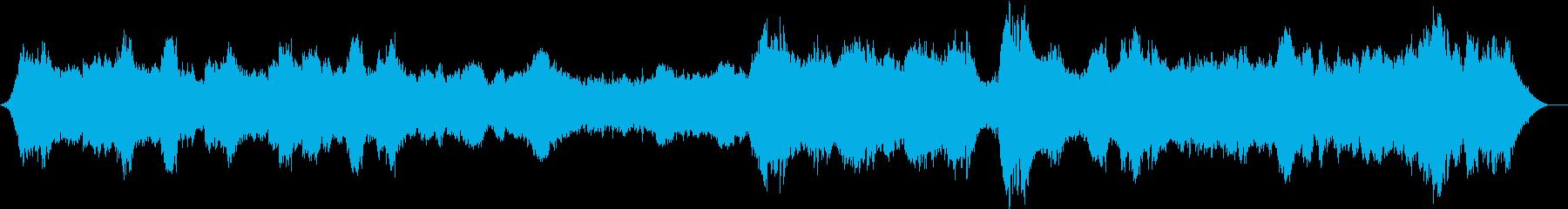 幻想的な映像向けのオーケストラの再生済みの波形