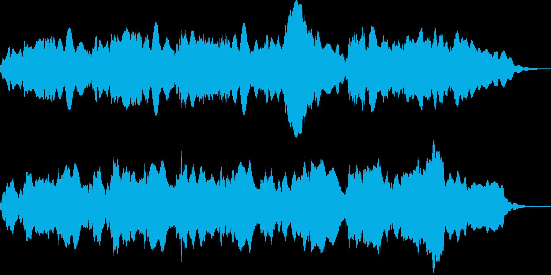 壮大的なリラクゼーションミュージックの再生済みの波形