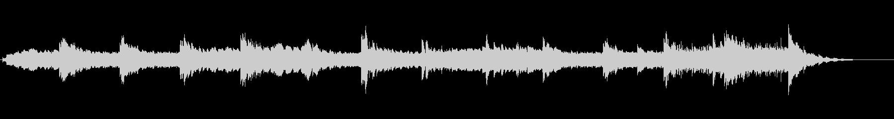 d 1分企業PV向け静謐で神秘的な曲の未再生の波形