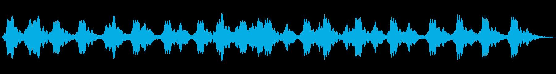 アナログパッド音で綴ったアンビエント音楽の再生済みの波形