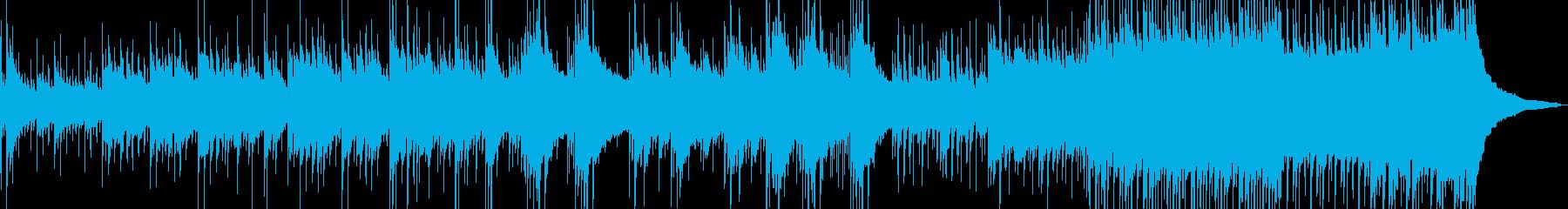 ドラムが落ち着くアコースティック音楽の再生済みの波形