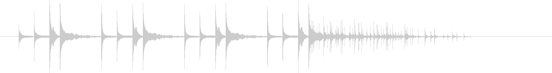 東南アジアを感じさせる民族音楽のような音の未再生の波形