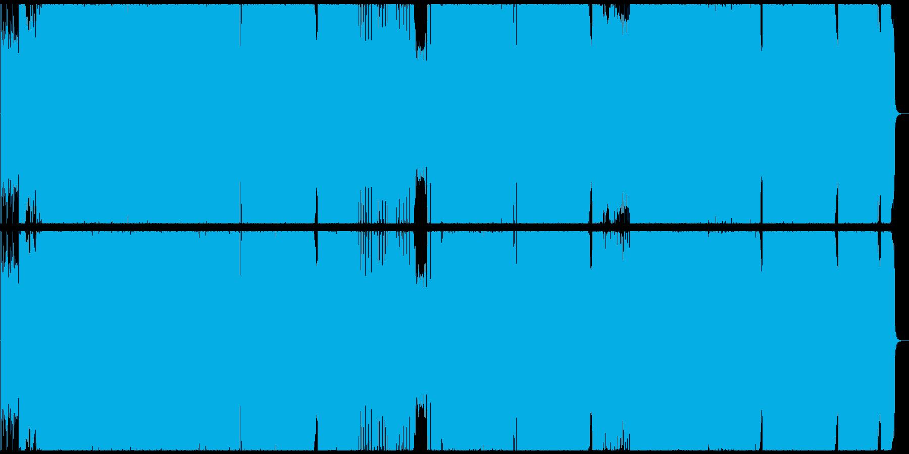 変拍子+疾走系+ハードロックインストの再生済みの波形