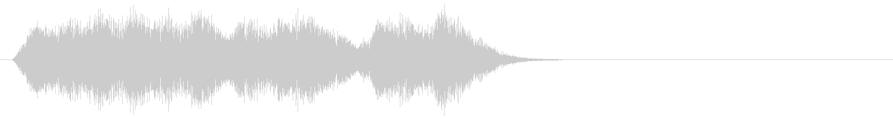 コミカルなヒット音の未再生の波形