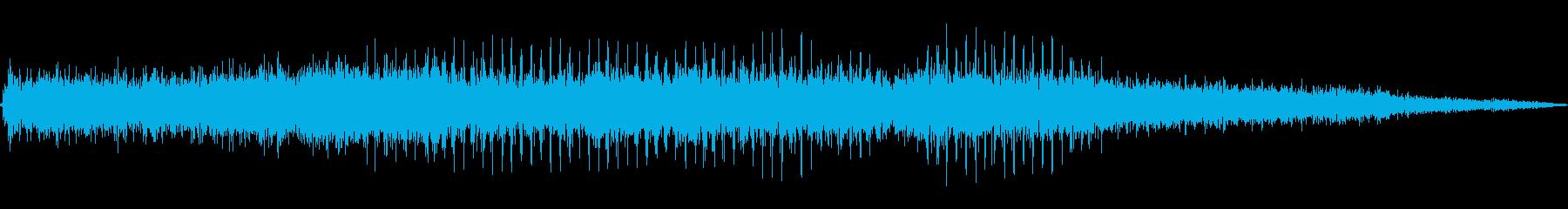 ヘリコプター/プロペラ/飛行音!02の再生済みの波形
