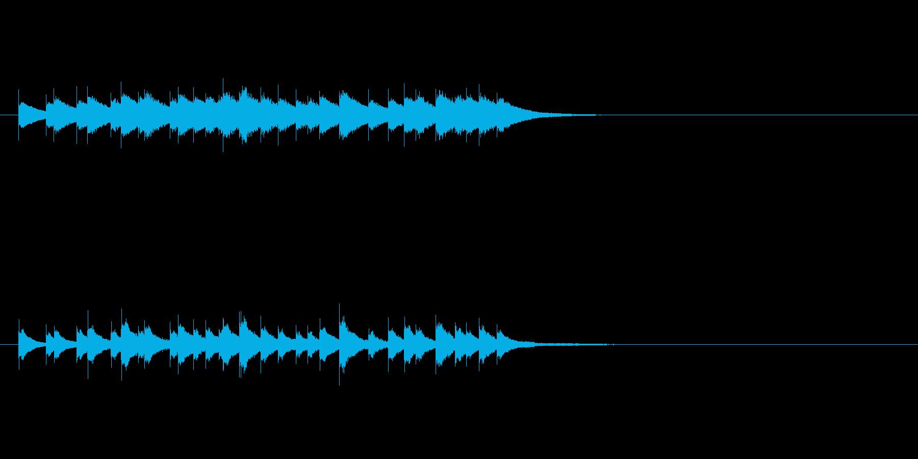 マジカルチャイムの再生済みの波形