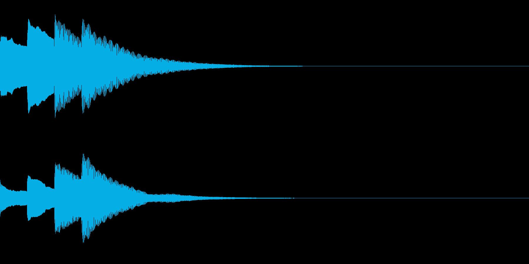 お知らせ・アナウンス音B下降(速め)03の再生済みの波形