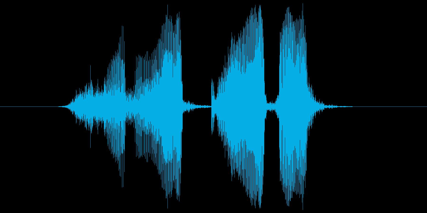 スリーカードの再生済みの波形