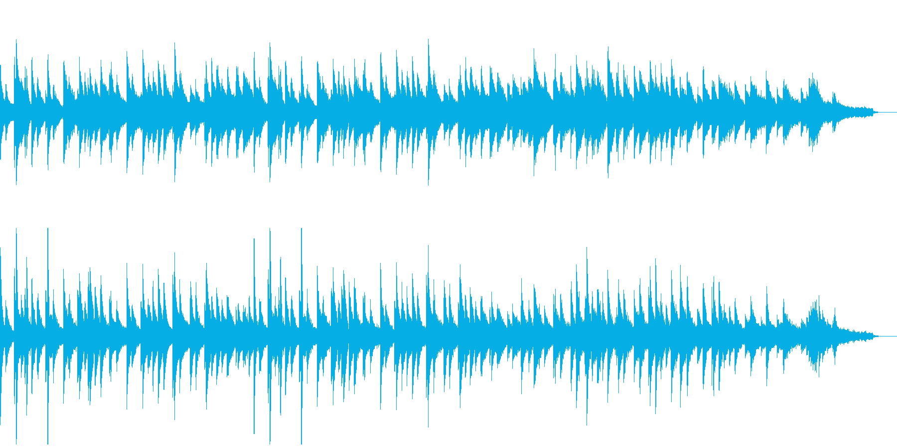 フランス風のお洒落なピアノソロの再生済みの波形