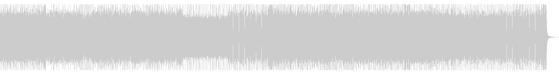 アクションバトルシーン風メタルロック曲の未再生の波形
