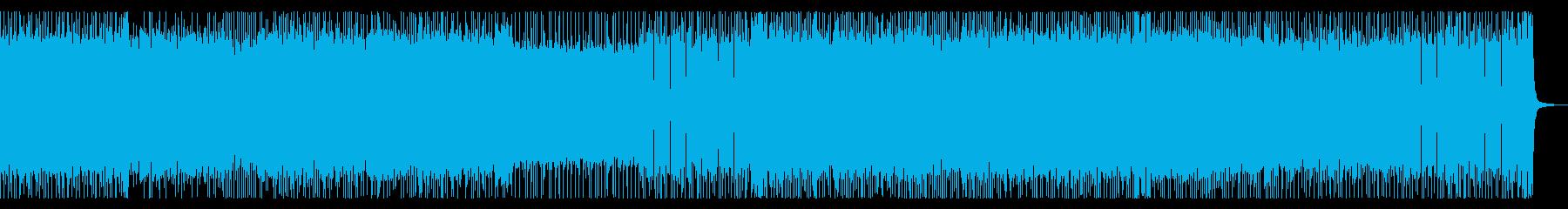 アクションバトルシーン風メタルロック曲の再生済みの波形