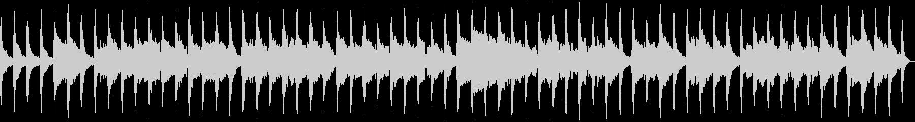 尺八とピアノによる和風インストの未再生の波形
