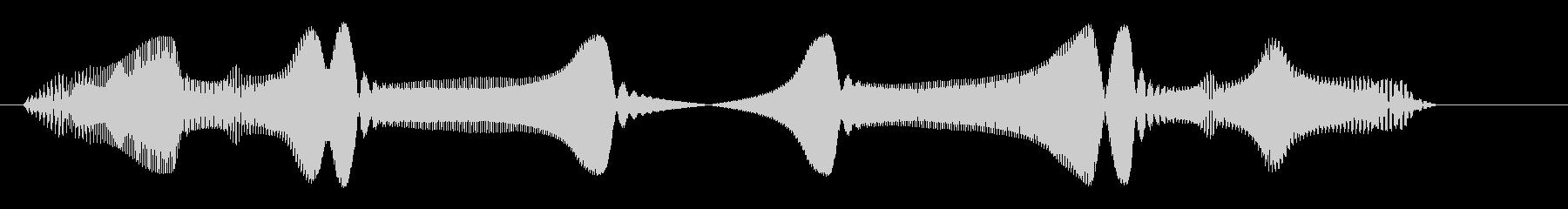 キラリーン(ピンチの時に突然現れる人物)の未再生の波形