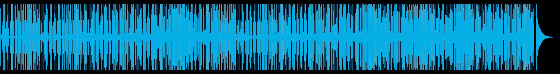 スローテンポのソウルポップ風BGMの再生済みの波形