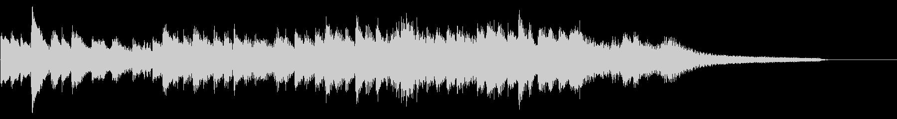 KANTピアノソロの穏やかなジングルの未再生の波形