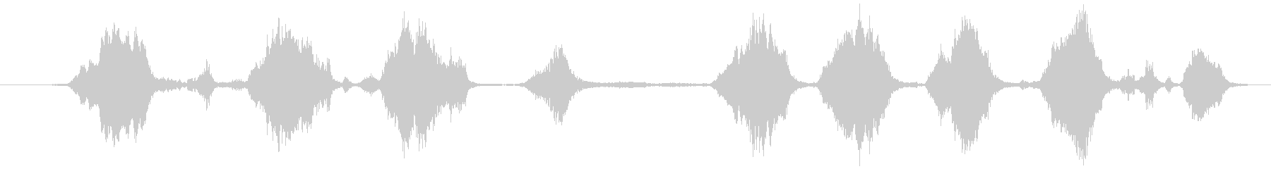 オカメインコの小グループ:絶え間な...の未再生の波形
