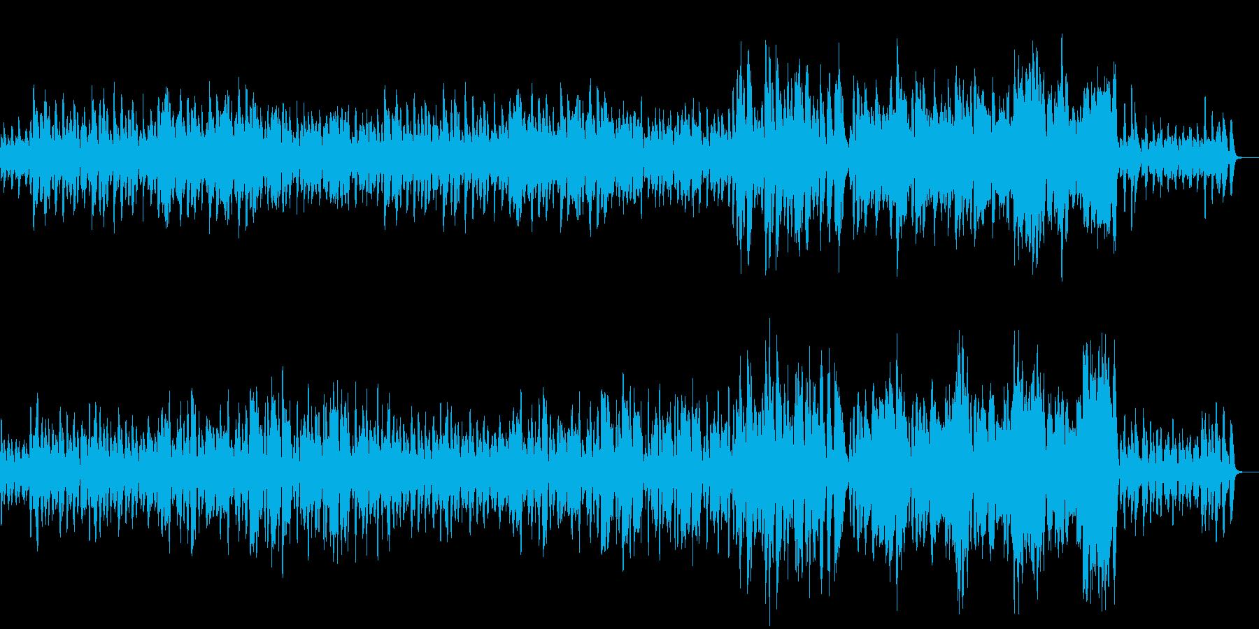 コミカルな管弦楽隊のBGMの再生済みの波形