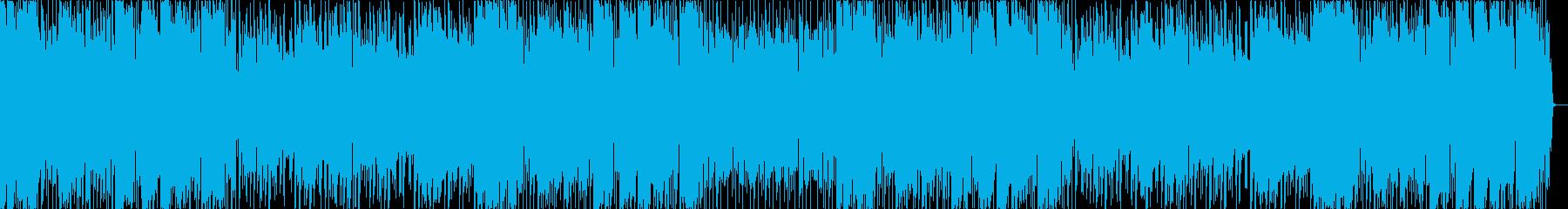 ほのぼのとした日常系の音楽の再生済みの波形