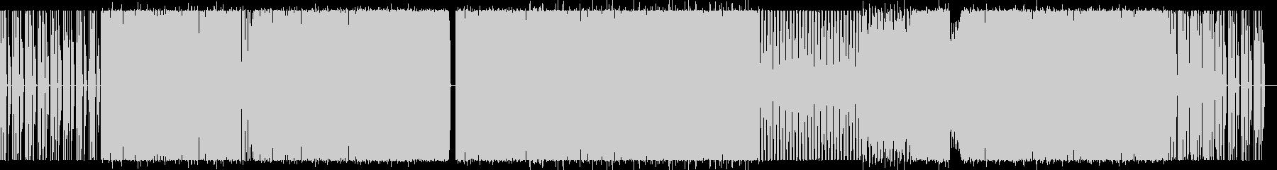 ダークなシンセとリズムのエレクトロ楽曲の未再生の波形