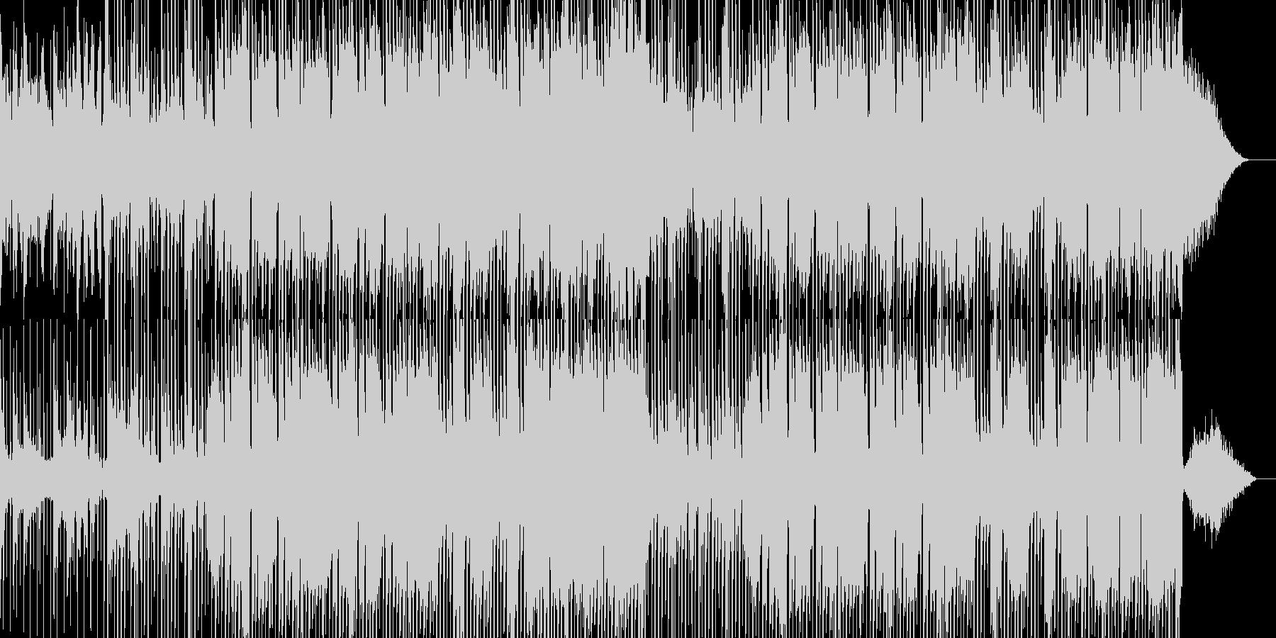 怪しく緊迫した雰囲気のBGMの未再生の波形