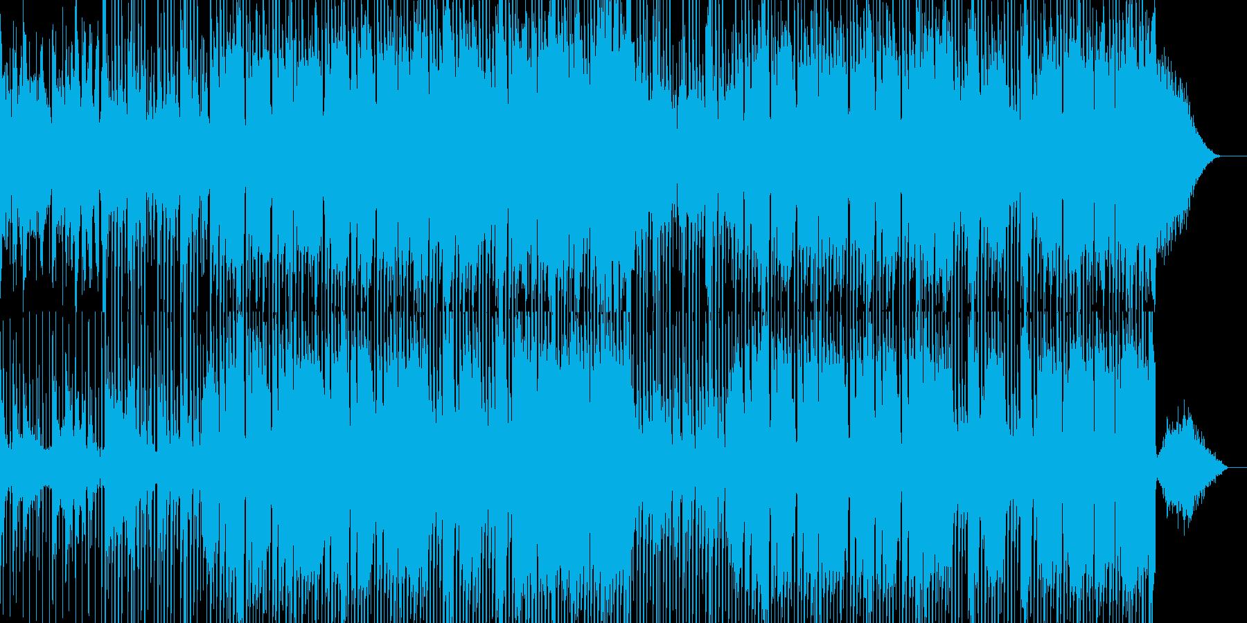 怪しく緊迫した雰囲気のBGMの再生済みの波形