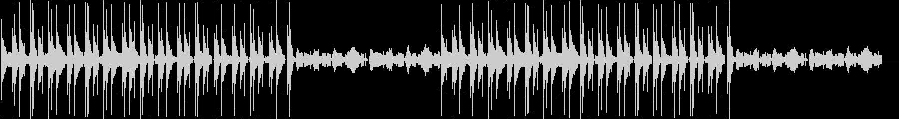 Lo-Fiな音色のエレクトロの未再生の波形