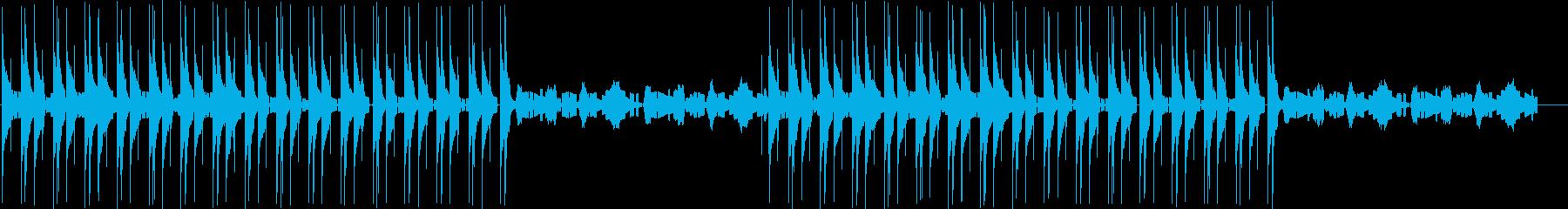 Lo-Fiな音色のエレクトロの再生済みの波形