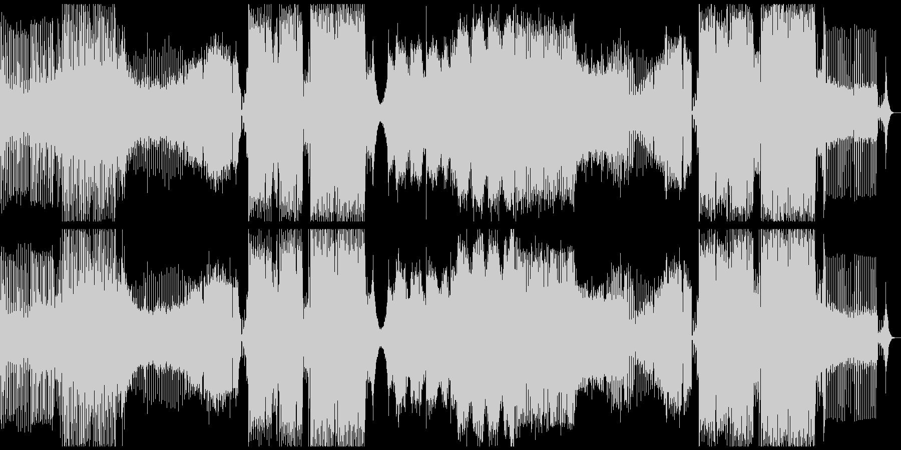 フェス系BIGROOM HOUSEの未再生の波形