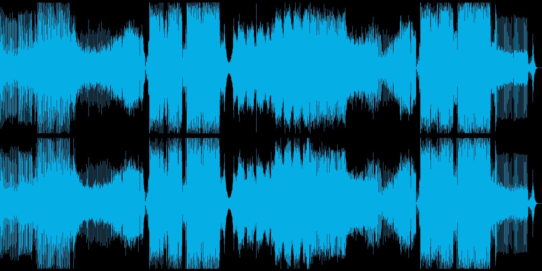 フェス系BIGROOM HOUSEの再生済みの波形