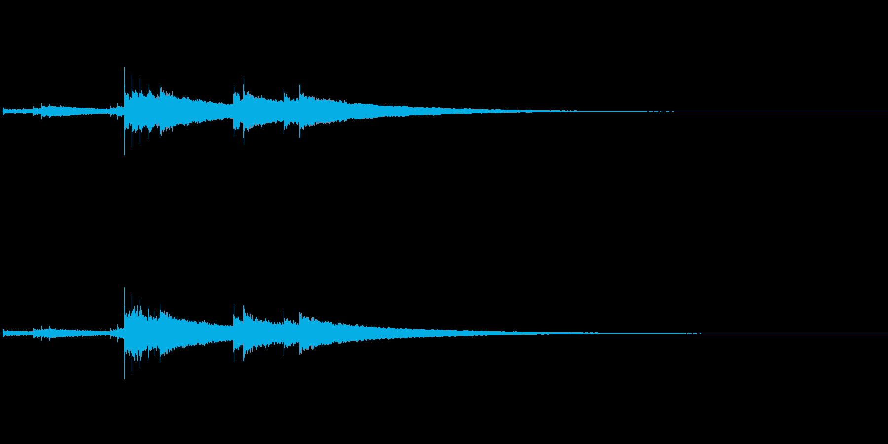 """和物打楽器""""きん""""のフレーズ音源Fxの再生済みの波形"""