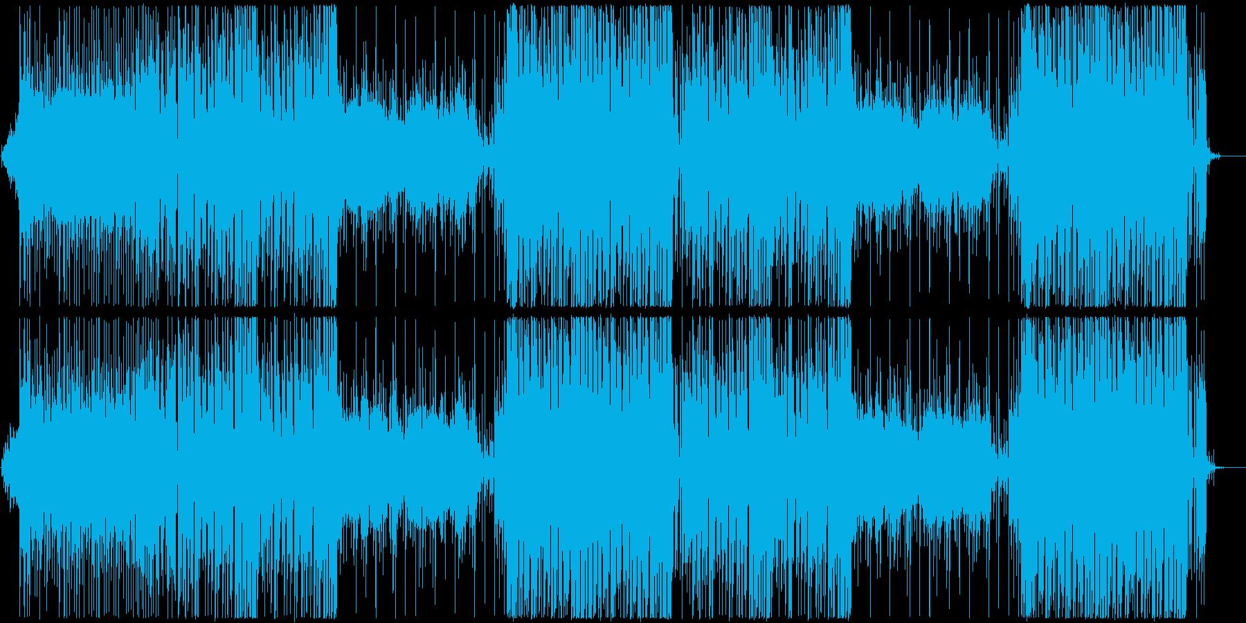 和風、お祭りEDMの再生済みの波形
