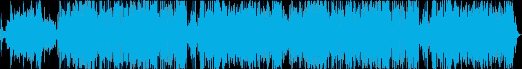 シネマティックなミドルテンポ戦闘曲の再生済みの波形