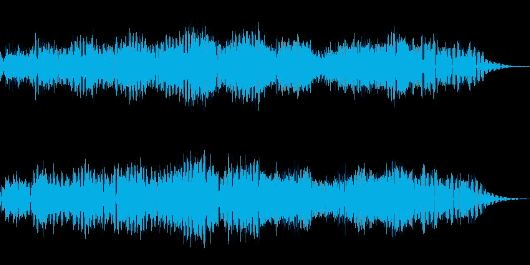 ウェーブテーブルシンセのパッド音の再生済みの波形