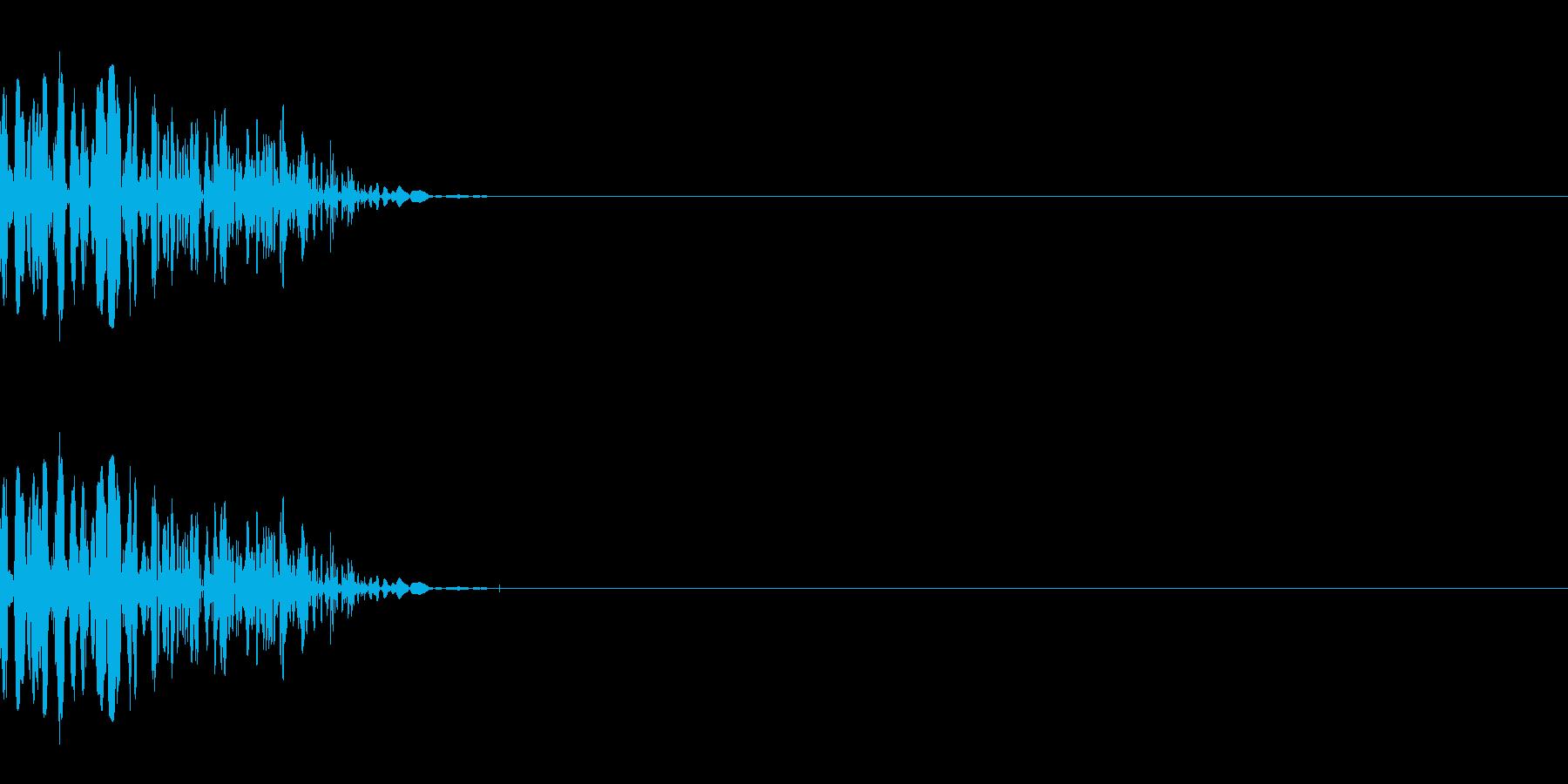 ドスッ(殴る/小攻撃/格闘)の再生済みの波形